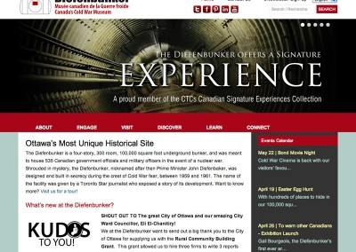 Diefenbunker Museum Website