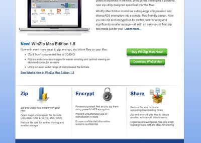 Winzip fo Mac Website